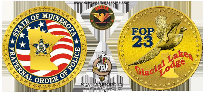 MN FOP 23 challenge coin