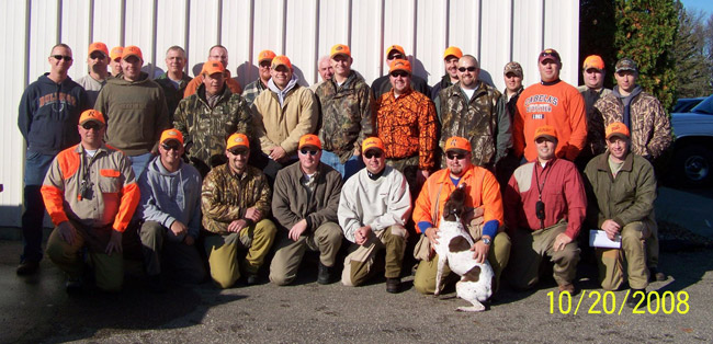 2008 Pheasant Hunt Participants